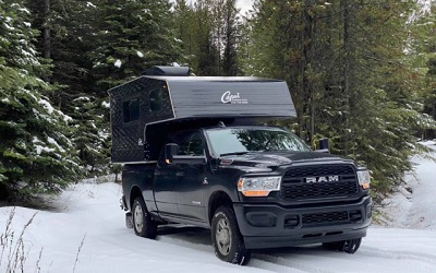What are the lightest truck camper?